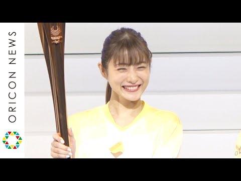 石原さとみ、パラ聖火リレーユニフォームで満面の笑み サンドウィッチマンも登場 『東京2020パラリンピック1年前カウントダウンセレモニー』