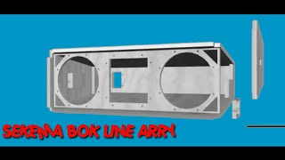 Skema box speaker gantung LINE ARRAY LA210P | paling mantap