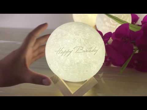 Customize Your Birthday gift -3D Moon lamp for Her/Him
