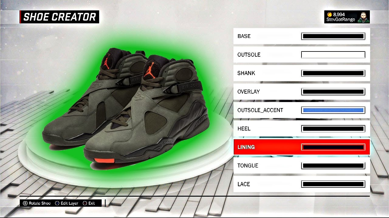 NBA 2K17 Shoe Creator | HOW TO CREATE AIR JORDAN TAKE FLIGHT 8! | Air Jordan  Take Flight 8 Tutorial! - YouTube