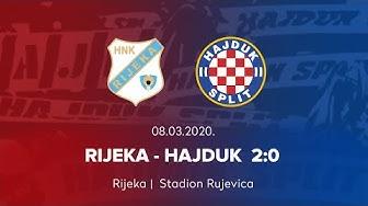 26. kolo HT Prve lige (2019/2020.): Rijeka - Hajduk 2:0