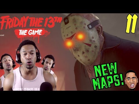 NEW MAPS UPDATE!! SAVAGE JASON ON THE LOOSE! Friday the 13th Gameplay #11