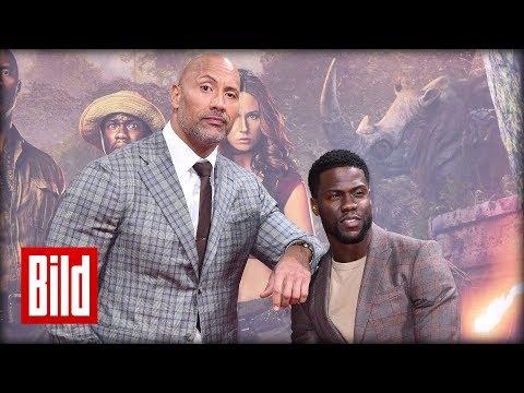 """""""Jumanji"""" - Dwayne """"The Rock"""" Johnson und Kevin Hart auf dem roten Teppich der Premiere in Berlin"""