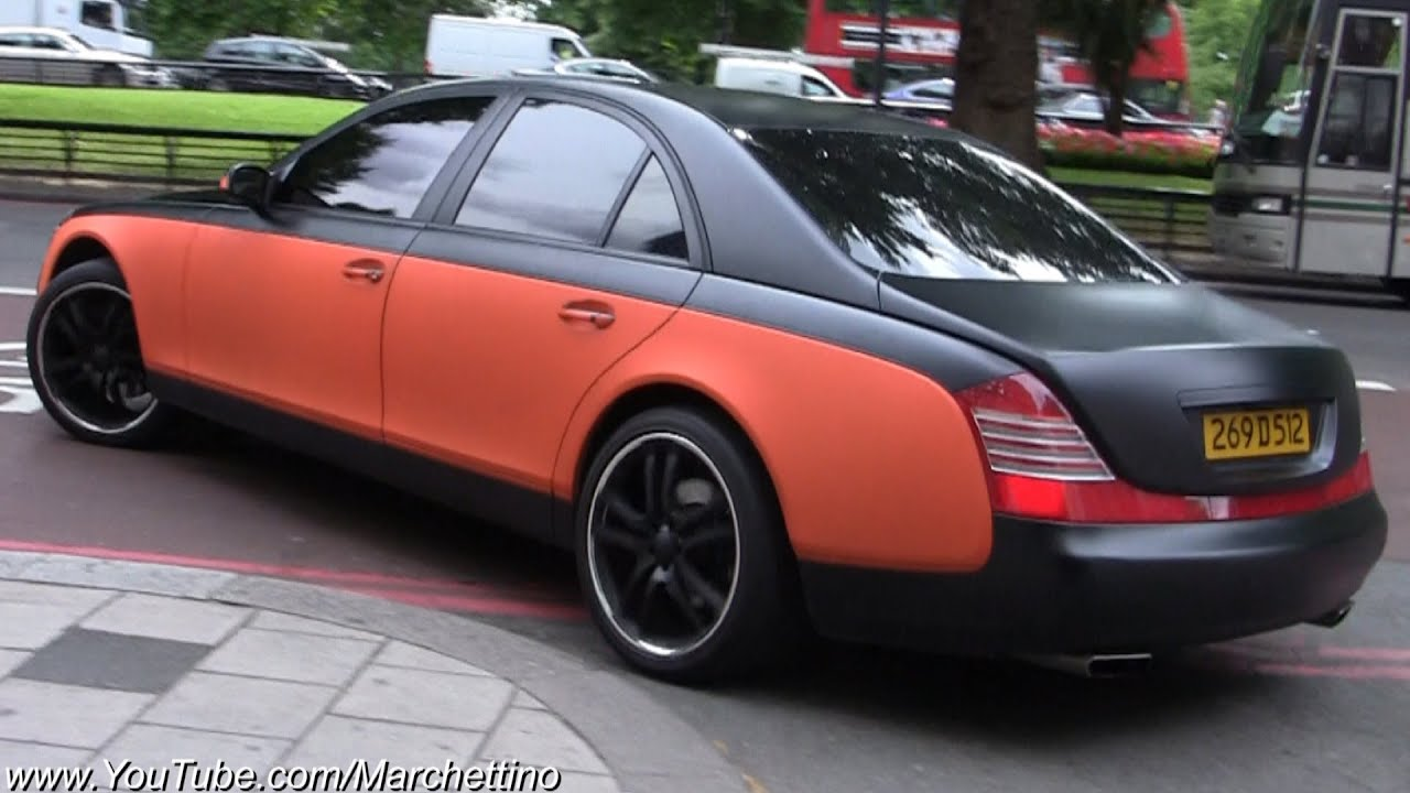 rrr maybach 57 matte black orange youtube. Black Bedroom Furniture Sets. Home Design Ideas