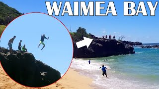 Jumping Off a GIANT Rock! || Mommy Monday
