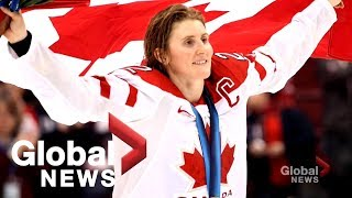 Hayley Wickenheiser inducted into the Hockey Hall of Fame