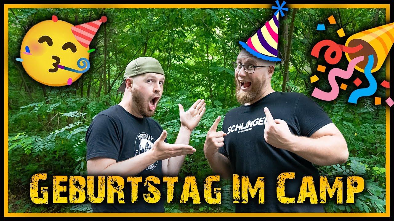 Gerrit hat Geburtstag - Feiern live im Camp -  Outdoor Bushcraft Deutschland