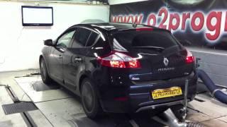Test dyno reprogrammation moteur Renault Megane 3 1 9 dci 130@175ch o2programmation paris