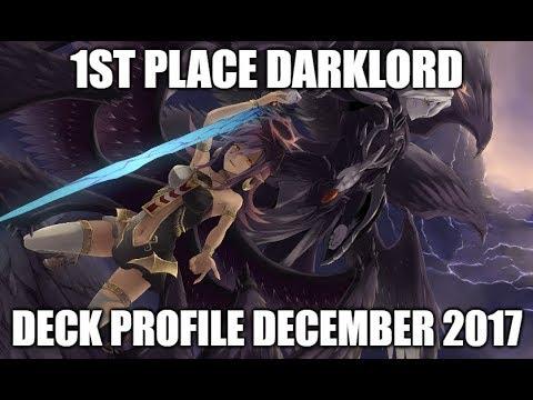 1ST PLACE! DARKLORD DECK PROFILE (DECEMBER 2017) YUGIOH!
