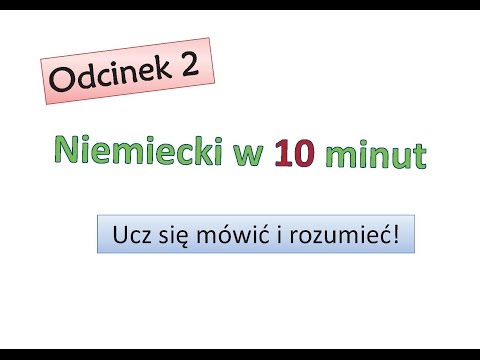Odcinek 2 - Niemiecki w 10 minut - Niemiecki dla początkujących