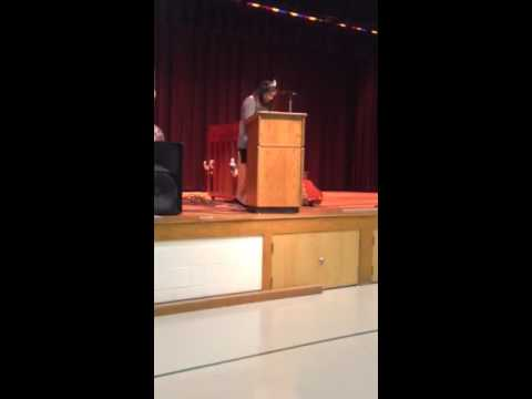 "Alyssa Lopez - (Skip to 3:00) ""God Bless America"" at Maurice River Township School"