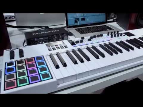M-Audio Code Series keyboard controller keeps the performance going!