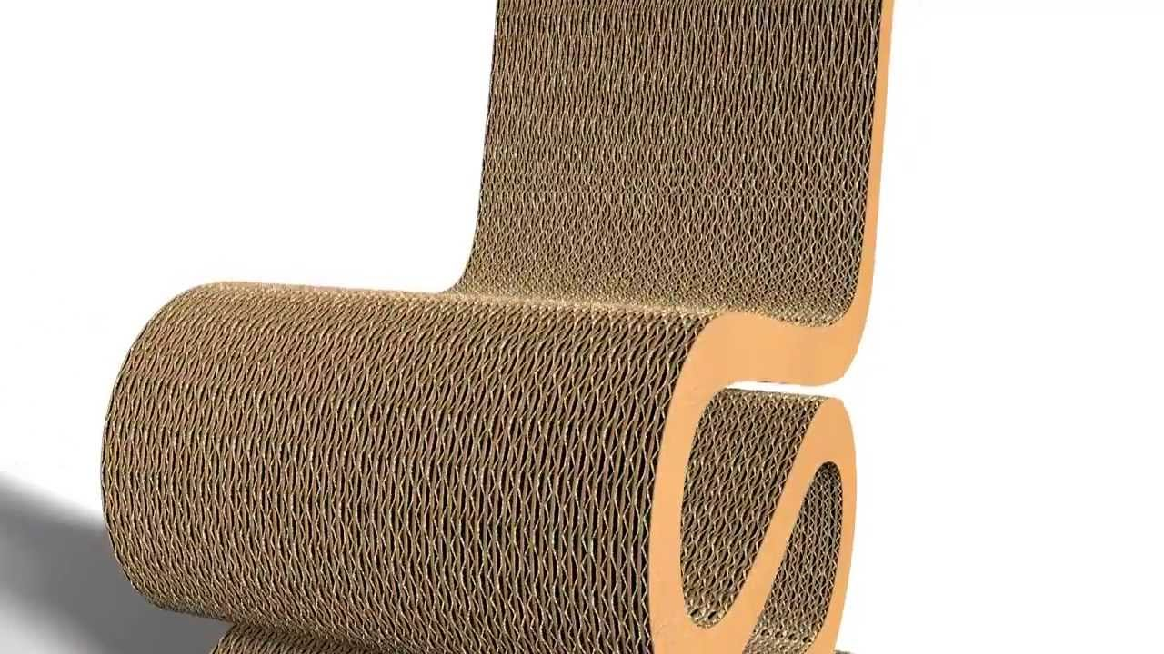 Modelisation Wiggle Side Chaire 1972 By F.O.Gehry   YouTube
