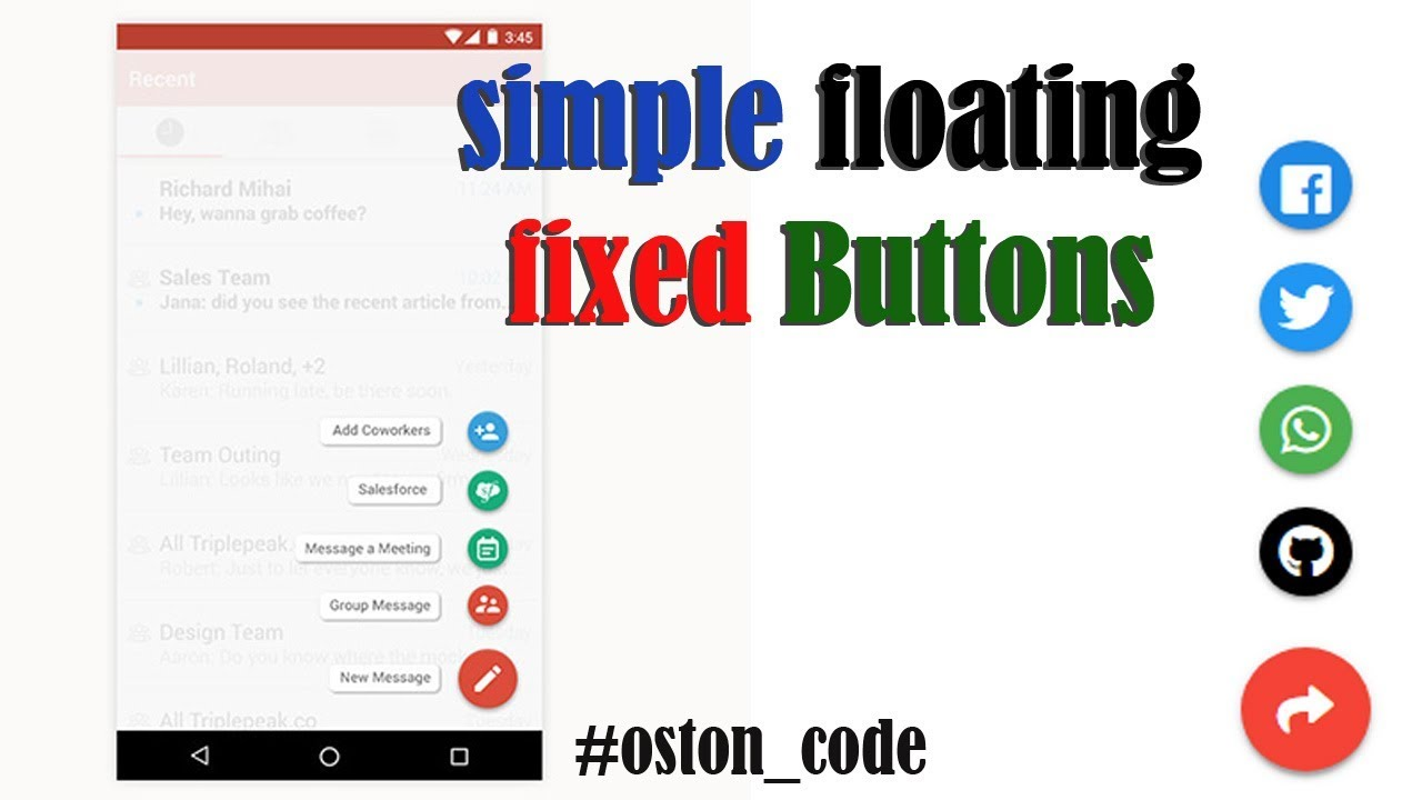 How to create Fixed Floating Action Buttons on your website or web App