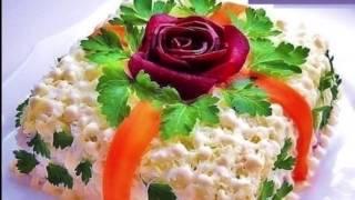 ,, Салат Оливье '' как украсить салат / как быстро украсить / лучшие варианты