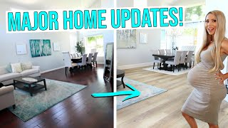 NEW FLOORS REVEAL (Did We Ruin Our House?!) + Home Gym and Bathroom Renovations!