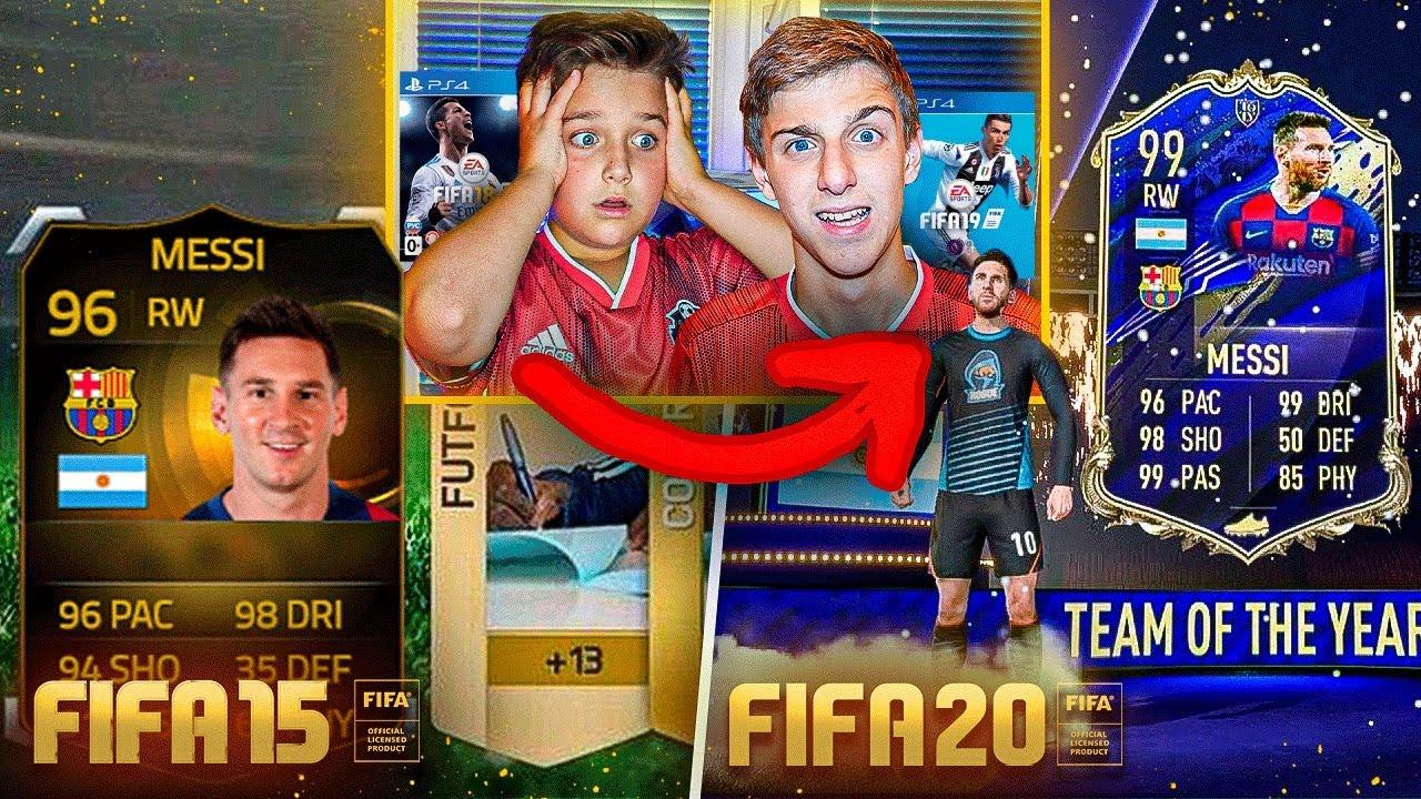 РЕТРО ПАКИ в КАЖДОЙ ЧАСТИ ФИФА | ПОЙМАЛИ МЕССИ | FIFA 15 vs FIFA 20
