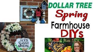 DOLLAR TREE SPRING FARMHOUSE DECOR DIY #dollartreediy #farmhousedecor #springdecordiy