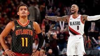 Trae Young (35 PTS, 8 REB, 10 AST) & Damian Lillard (30 PTS, 7 REB, 6 AST) Face-Off In OT Game