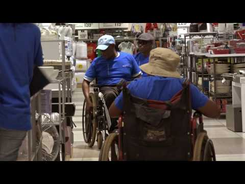 Touring of Airport Junction by Wheel Chair Users