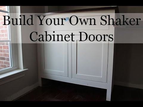 Superbe DIY Shaker Cabinet Doors   YouTube