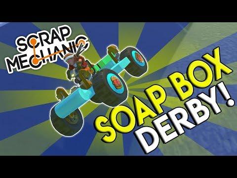 SOAP BOX DERBY CHALLENGE RACE! - Scrap Mechanic Gameplay - Pinewood Derby Race Challenge