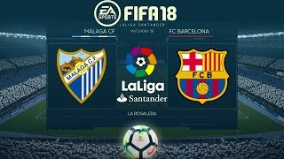 FIFA 18 Málaga vs Barcelona   La Liga 2017/18   PS4 Full Match