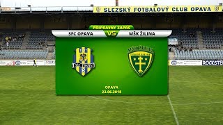 SFC Opava - MŠK Žilina 1:0 (1:0)