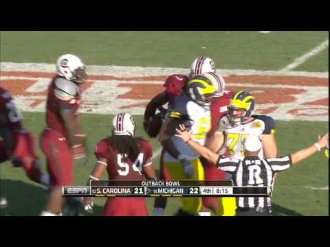 Jim Ross Calls Jadaveon Clowney Hit on Michigan Running Back