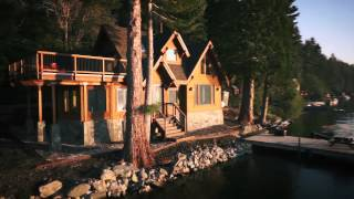 luxury lake front forest service cabin