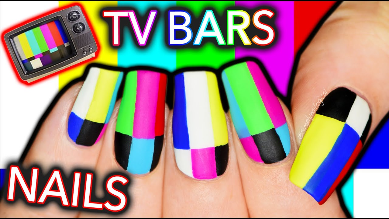 What S Wrong With Your Tv Television Test Screen Bars Nail Art Youtube