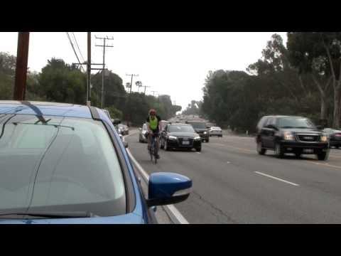 DANGER BICYCLE RIDING MALIBU PCH