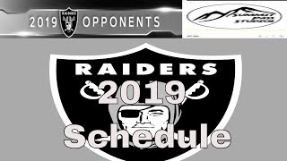 2019 Oakland Raiders Schedule