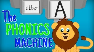 THE LETTER A SONGS - Phonics Songs for Kids Alphabet Sounds PHONICS MACHINE ABC Sounds Preschool