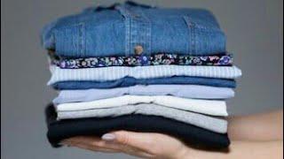 ترتيب دولاب الملابس اسهل طرق لطى جميع الملابس how to fold clothes