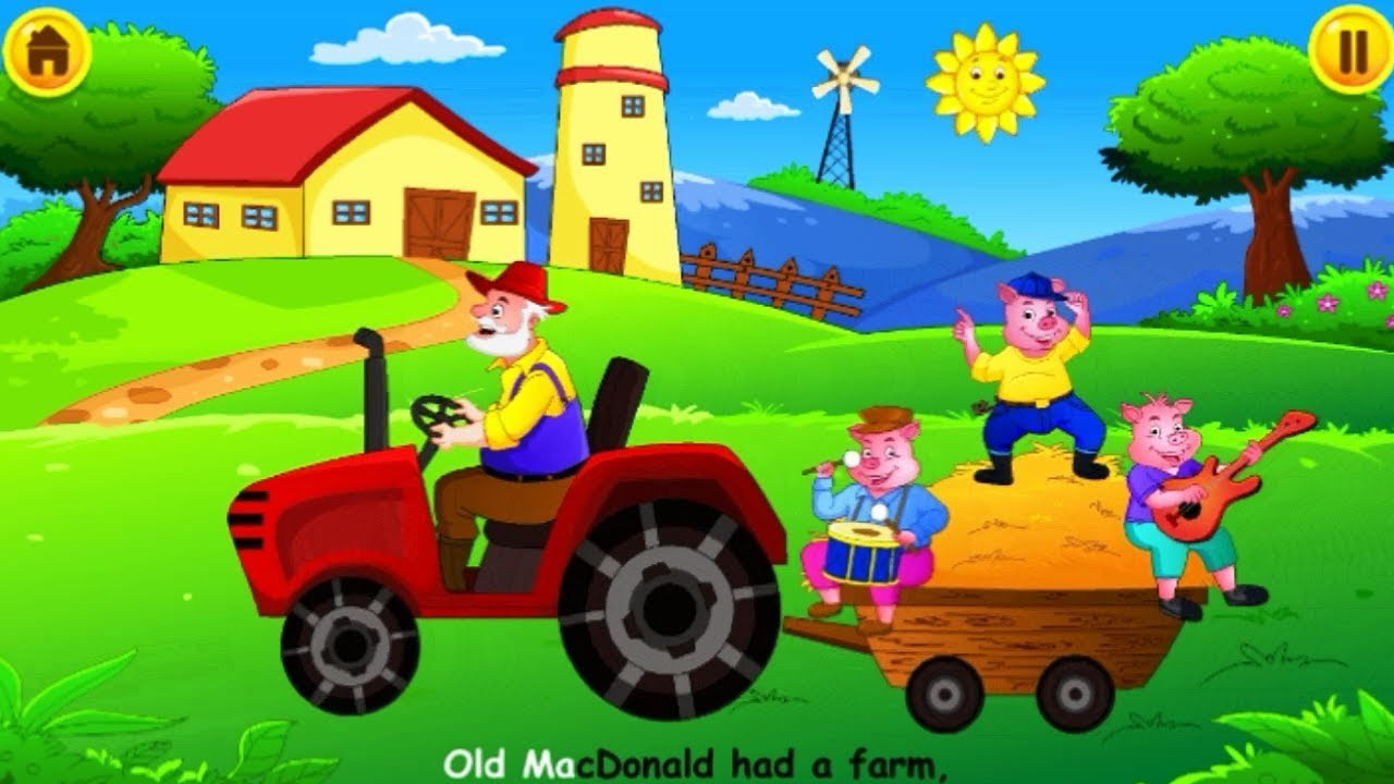 El Viejo McDonald Tiene Una Granja │ Canciones Infantiles en Ingles