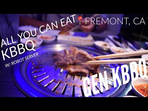 NEW! Gen KBBQ Fremont, CA Grand Opening location W/ Meat Serving Robot!!