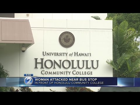 Campus on alert after woman attacked near Honolulu Community College