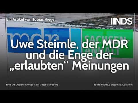 """Uwe Steimle, der MDR und die Enge der """"erlaubten"""" Meinungen   Tobias Riegel   NDS   09.12.2019"""