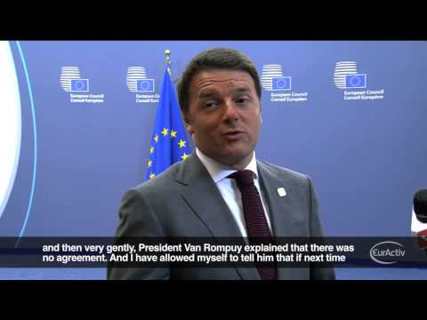 Renzi angered after EU leaders fail to appoint Mogherini as High Representative