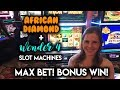 Bonus WIN! African Diamond! SUPER Free Games Buffalo Gold Slot Machine!