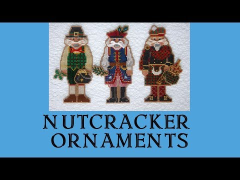 🎄 Nutcracker Ornaments / Christmas Cross-stitching