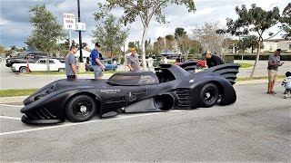 Street legal Batmobile drive by. Man Spends 3 Years Building Incredible car Cars & Coffee Palm Beach