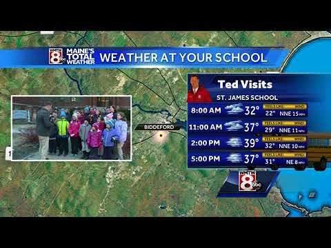 Students at Saint James School wake up early for Weather At Your School