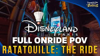 Disneyland Paris RATATOUILLE: The Adventure FULL Ride (HD POV) On-Ride Ridethrough - Full HD Video(DISNEYLAND PARIS RATATOUILLE RIDE: Full POV walkthrough and ride-through of