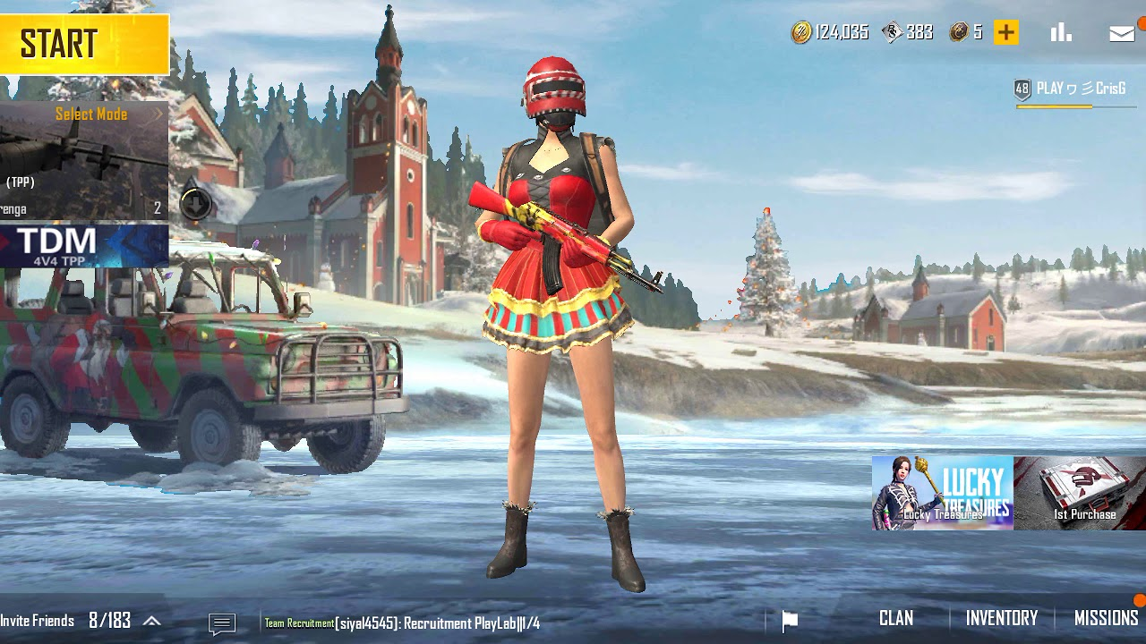 Pubg room mobile chat in enter Create Room