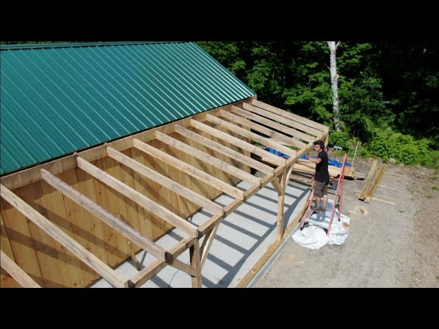 This 1 Trick is going to SAVE me So Much time & Frustration  one man Builds a Post & Beam BARN