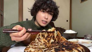 高菜餃子×白米=幸せ舞い込む