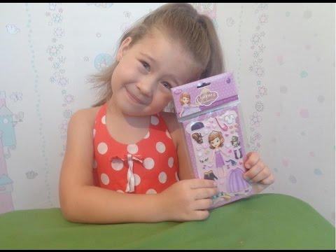 Принцесса София набор наклеек одень принцессу