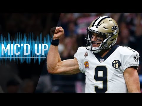 Drew Brees Mic'd Up Breaking the All-Time Passing Record! | NFL Films